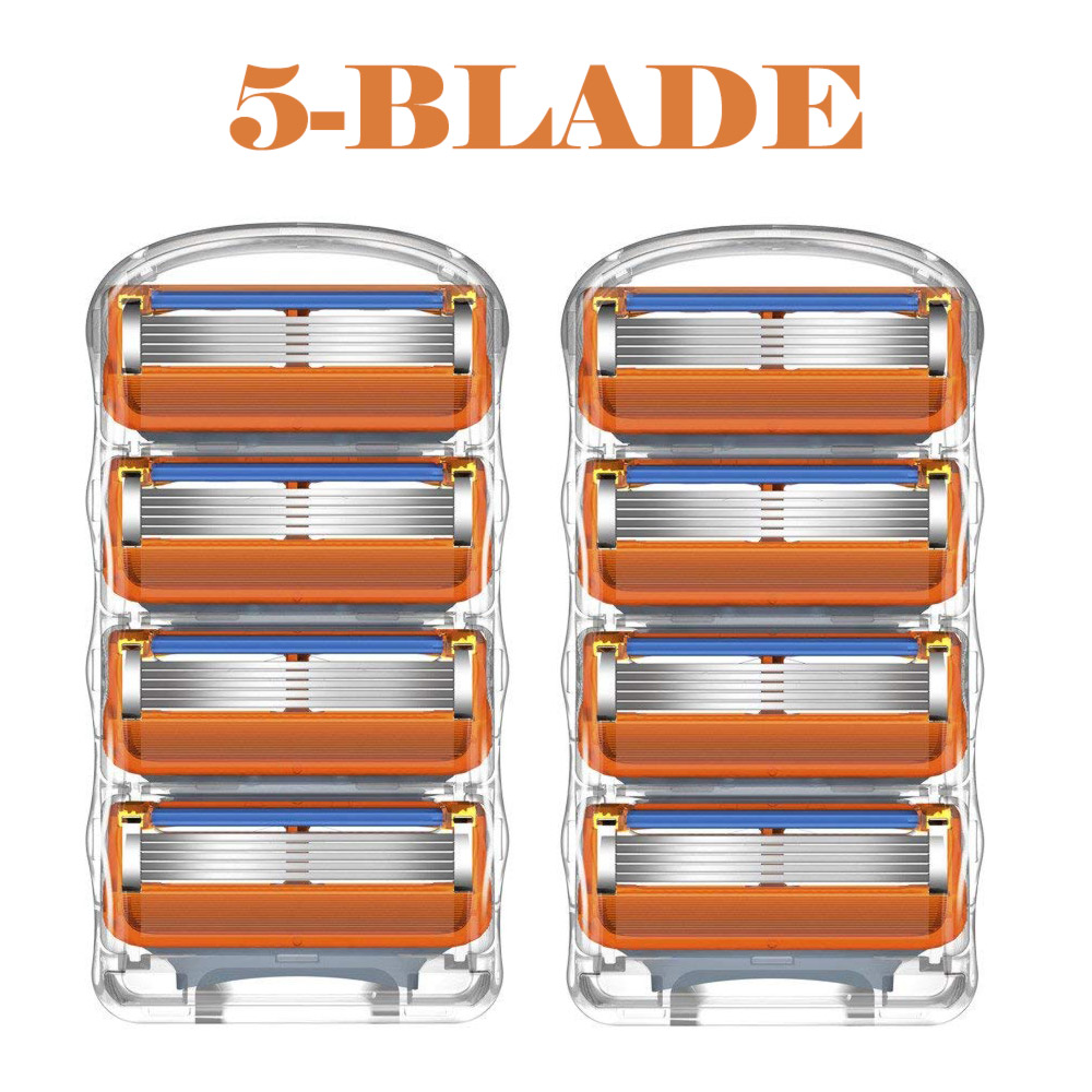 8pcs/lot Razor Blades Cassette Shaving Blade For Men Face Compatible For Gillettee Fusione Proglide Or Mache 3 Machine