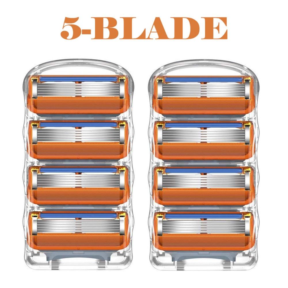 8pcs/lot Razor Blades Cassette Shaving Blade For Men Face Compatible For Gillettee Fusione Proglide Or Mache 3 Machine