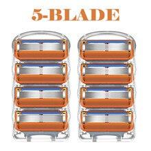 8pcs/lot Razor Blades Cassette Shaving Blade for Men Face Compatible Gillettee Fusione Proglide or Mache 3 Machine