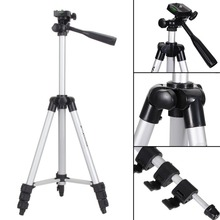 Buy Universal Portable Tripod 4 Sections Tripod+Phone Holder For Cellphone Smartphone Canon Sony Nikon Compact Camera