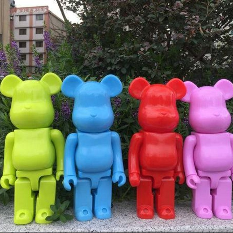 Wholesale Cheap New Toys For Kids 28 Cm PVC Anime Bearbrick Action Figures 400% Models DIY Block Dolls Juguetes Dj040 high quality oversize 52cm bearbrick be rbrick matt diy pvc action figure toys bearbrick blocks vinyl doll 3 color optional