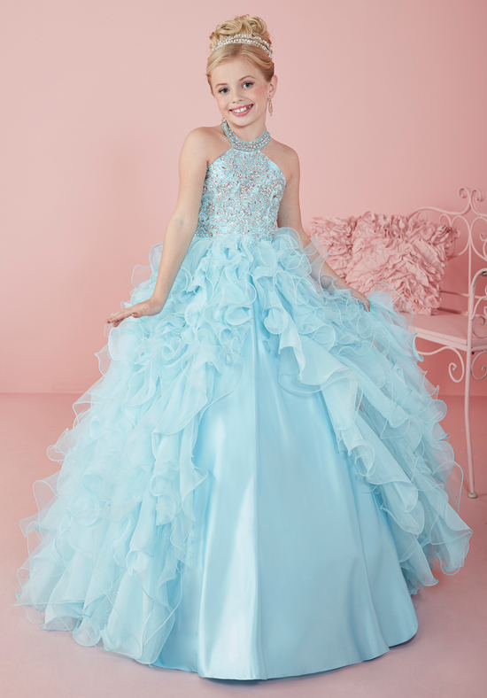 2017 New Arrival Halter Design Sleeveless Beaded Flower Girl Dresses Ruffled Puffy Ball Gown For Wedding Party 2-12 Year Old 4pcs new for ball uff bes m18mg noc80b s04g