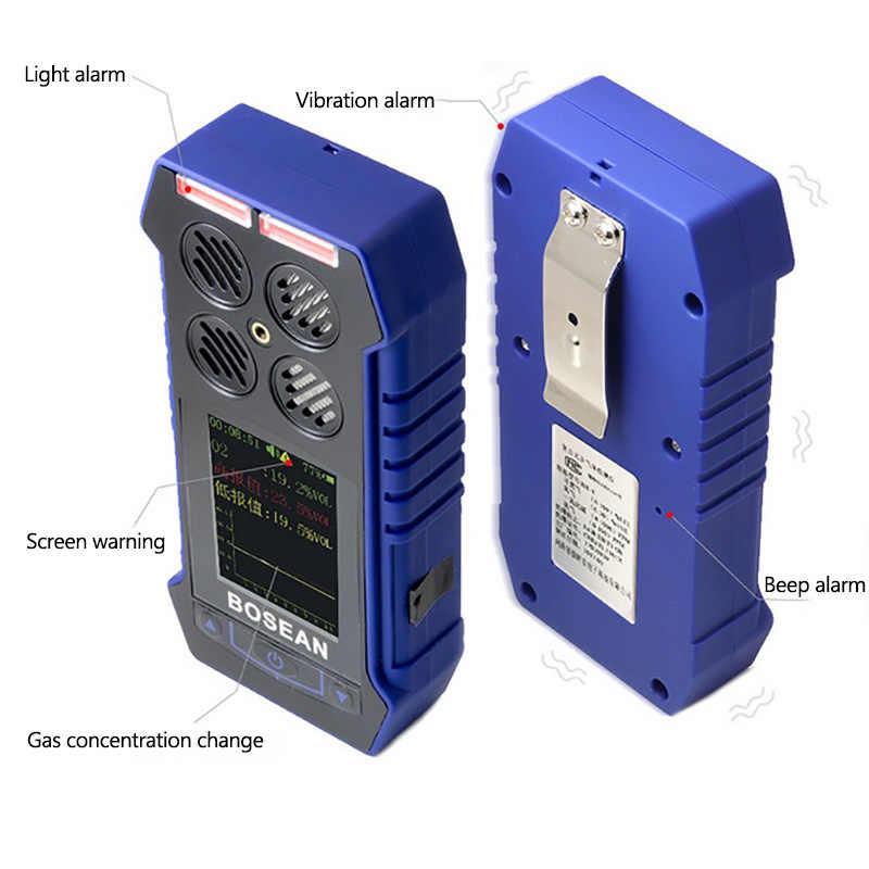 Детектор газа кислородный O2 H2S углеродный 4 в 1 моноксид CO легковоспламеняющийся газовый анализатор монитор токсичный газ и вредный детектор утечки газа
