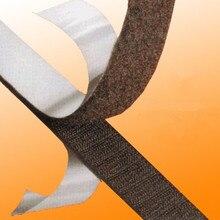 2M * 20mm de ancho adhesivo autoadhesivo gancho y cinta de bucle tira de sujeción negro sólido con alta calidad AA7327