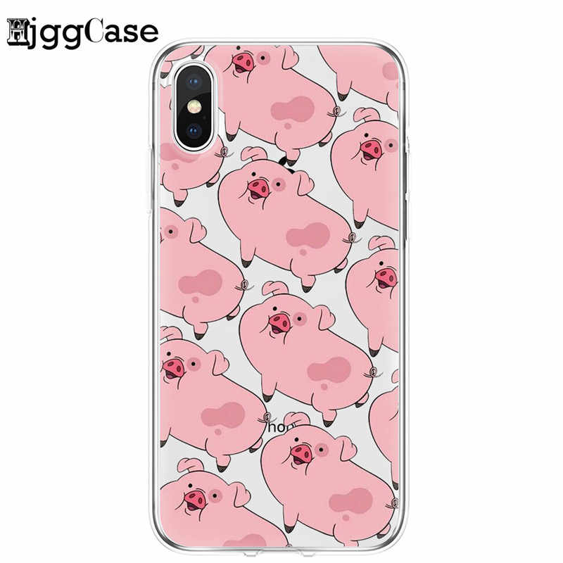 Rosa Schwein Fall Für iPhone X XR XS MAX 8 7 Plus 6 6S Plus 5 5S SE fall klar Weichen silikon telefon haut Coque Für iPhone11 Pro Max