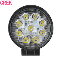 4 27W Round High Power Offroad LED Light Flood Off Road Worklight For Car Jeep Cabin