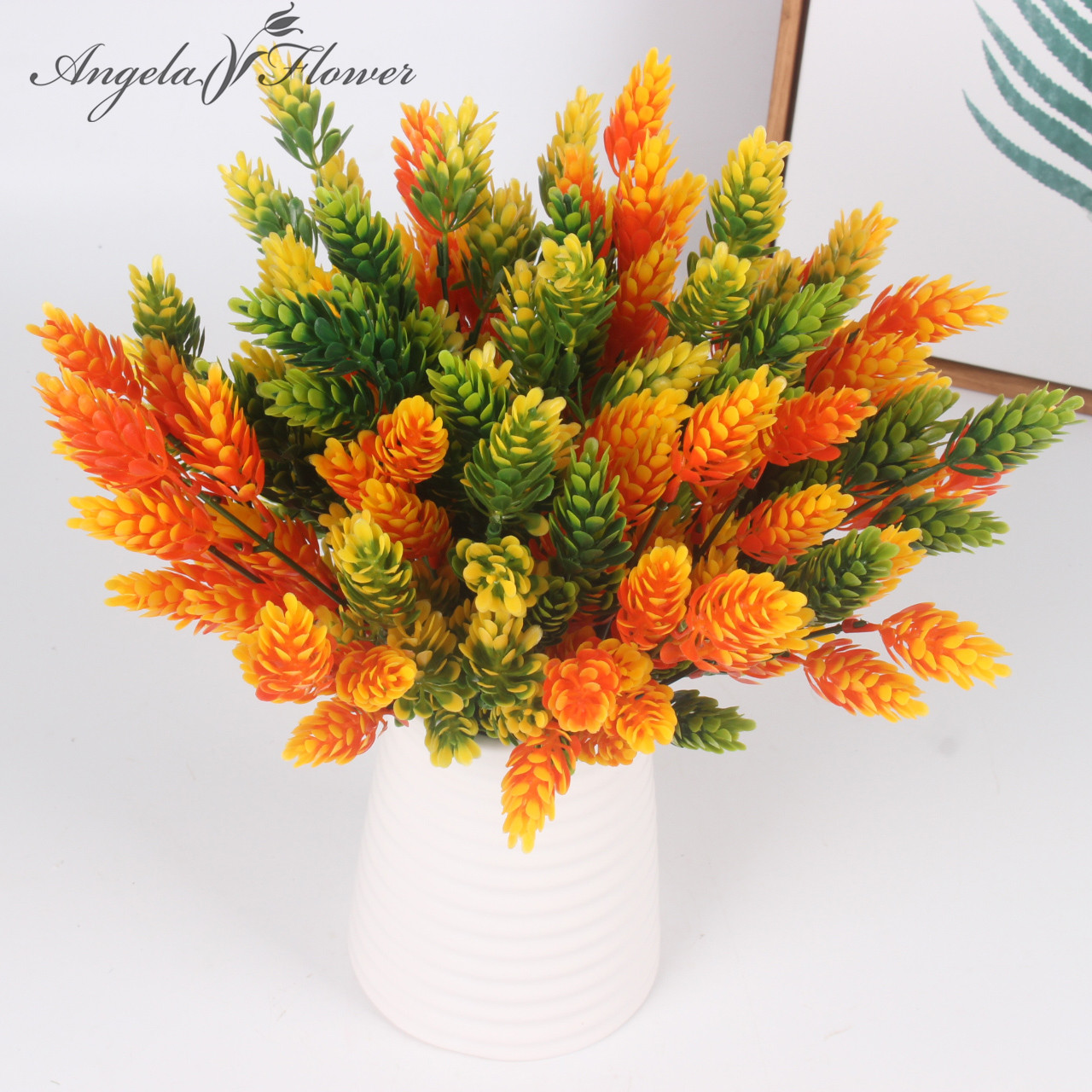 Cheap christmas pinecone artificial plant flower for Artificial decoration