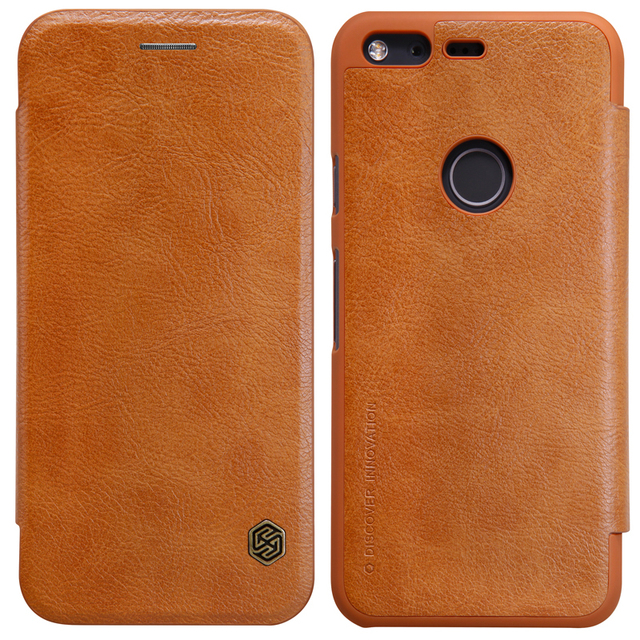 premium selection 541e0 f3345 US $9.89 |Nillkin Qin Luxury Flip Cover For Google Pixel XL Leather Case  Wallet Card Slot Phone Case-in Flip Cases from Cellphones & ...