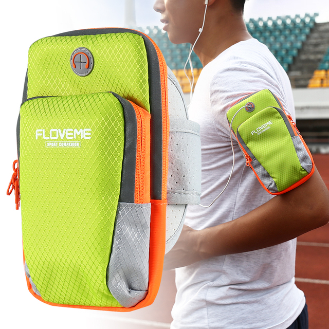 FLOVEME Sports Armband Pouch For iPhone 7 Plus 6 6s Plus 5S SE Running Arm Band Case For iPhone X 8 Plus Cover Shell Phone Bags