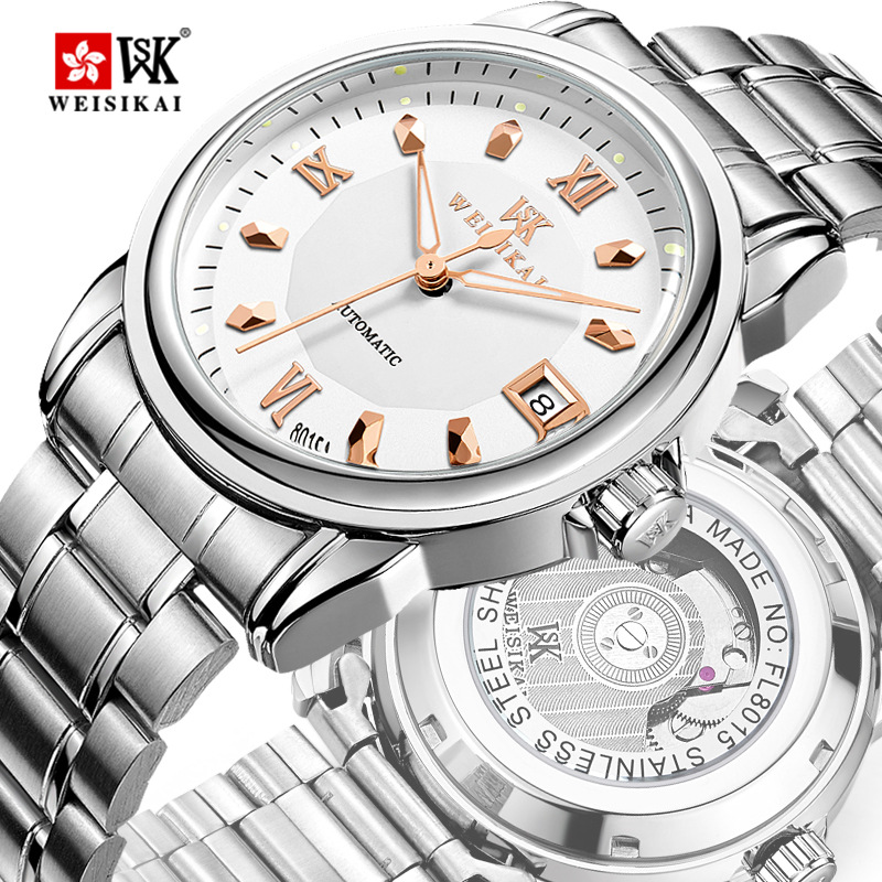 WEISIKAI Luxury Brand Mens Automatic Mechanical Watches Business Dress Watch Male Waterproof Wristwatches Relojes Masculino