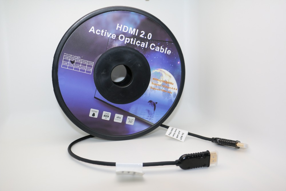 30m (100ft) Active Fiber Optic AOC High Speed HDMI Cable -HDMI to HDMI Active Optical Ca ...