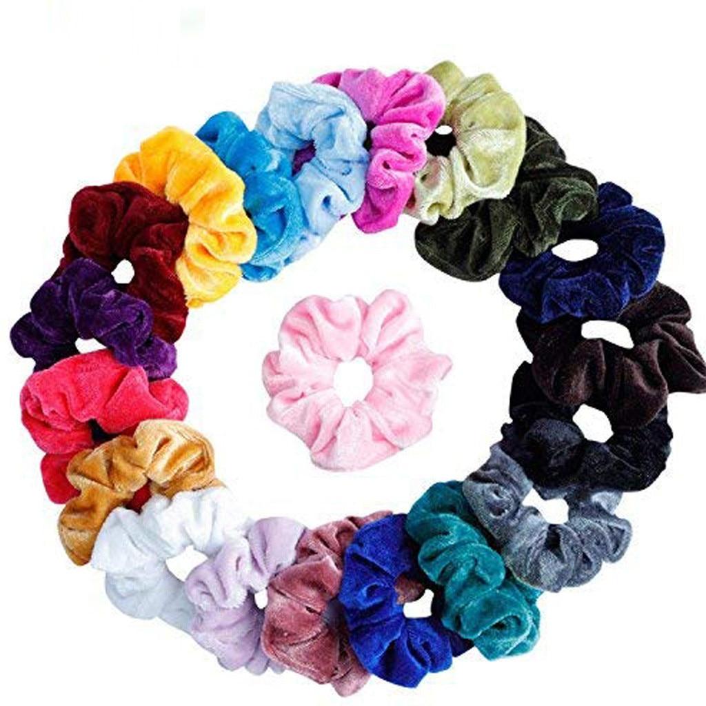 20 шт., ремешки для волос, бархатные ремешки для волос, аксессуары для волос