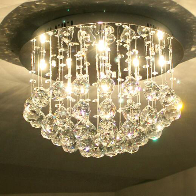 modern chandelier cristal lamparas candiles round crystal chandelier