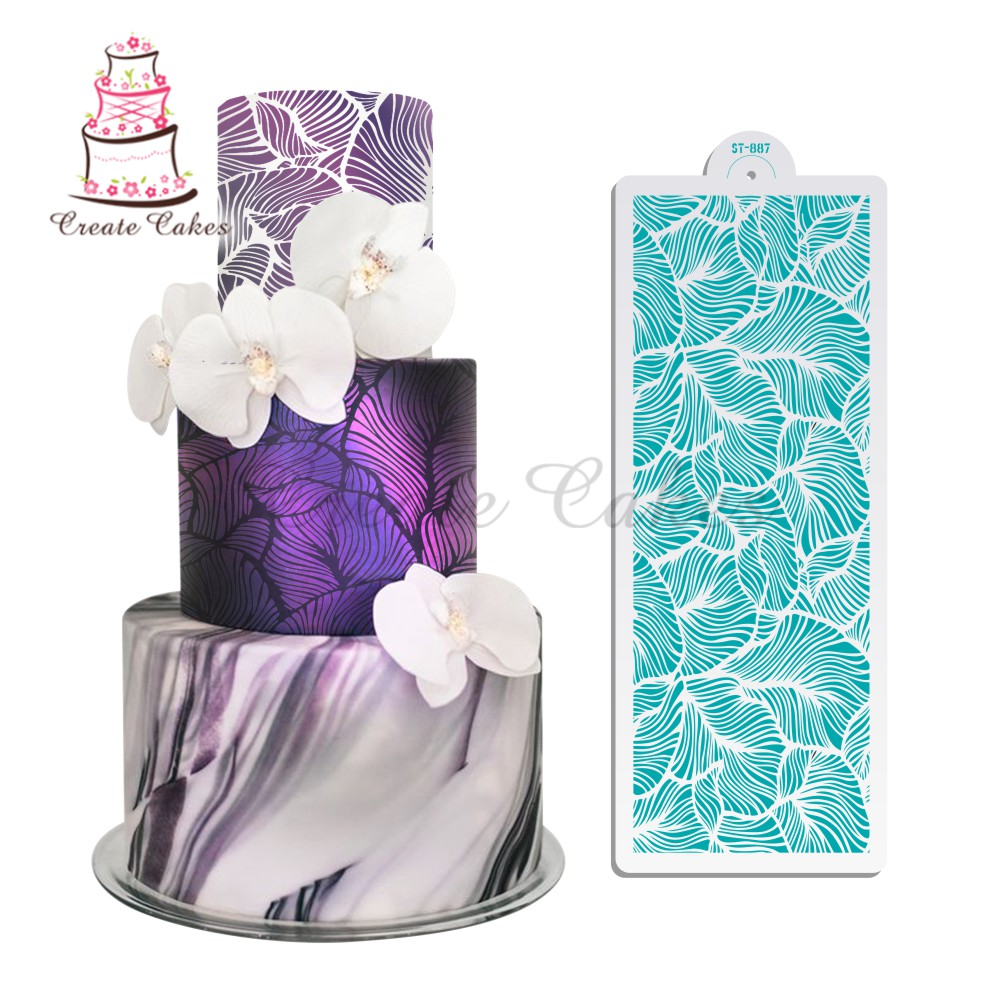Peacock Lace Stencils Wedding Cake Design Plastic Template Mold Painting StencCA