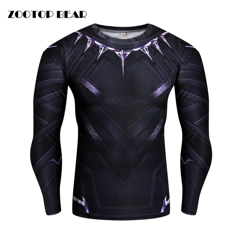 Black Panther/Captain America/Iron Man/Winter Soldier T shirt Compression Men T-shirt Crossfit Camiseta Cosplay 2017 ZOOTOP BEAR