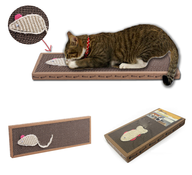 Cat Toy Sisal Hemp Cat Scratch Board Scratching Post For Pet Products Supplies