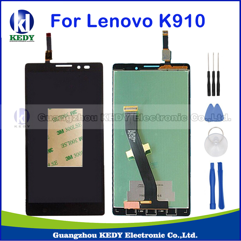 Black For Lenovo Vibe Z K910 New Original LCD Display Touch Screen with Digitizer Assembly Replacement Part+Tools аксессуар чехол lenovo k10 vibe c2 k10a40 zibelino classico black zcl len k10a40 blk