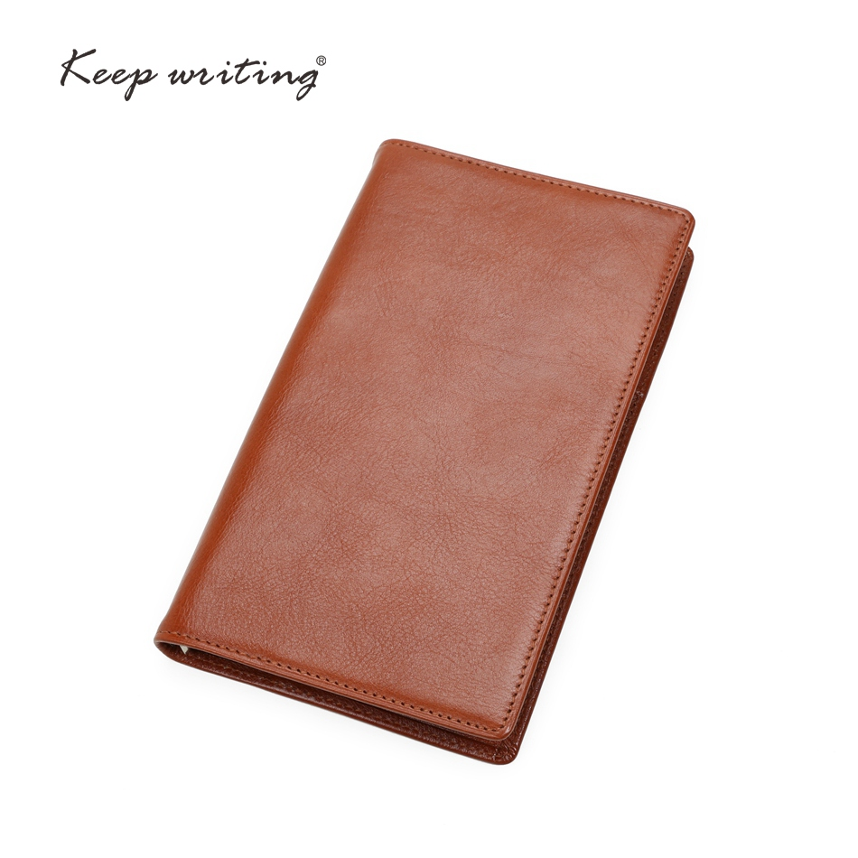 A6 Genuine leather notebook 45 sheets 100 gsm paper lined pages stationery small Journal real leather durable Cowhide notes 2018 week on one page with lined notes planner agenda 91 sheets 100gsm paper stationery journal 12 months calendar notebook