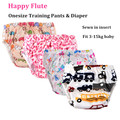 Happy Flute One Size Cloth Diaper Potty Training pants, Waterproof and Breathable TUP Outer with Sewn in insert