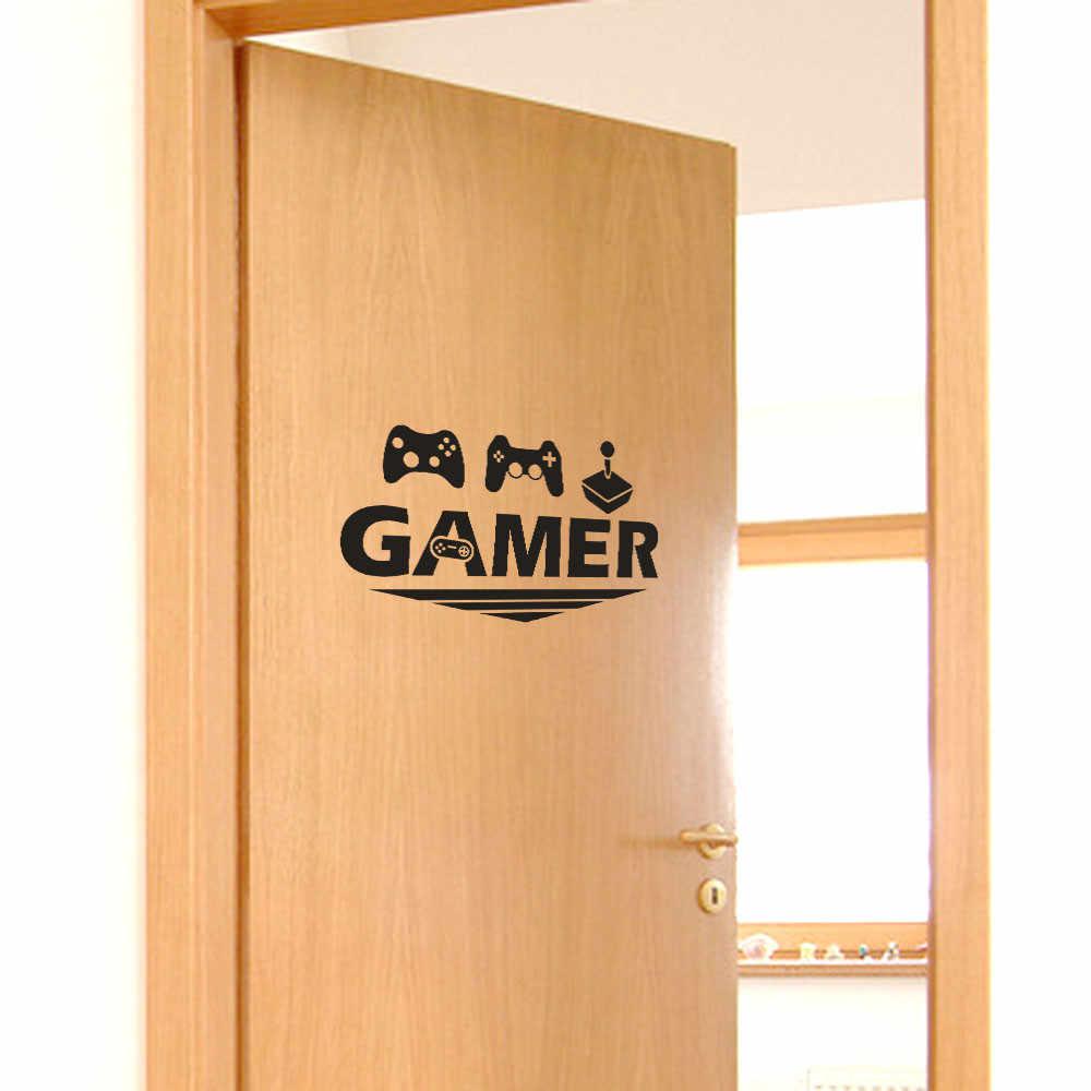 Wallpaper Pvc untuk Ruang Tamu Gamer Rumah Dekorasi Pintu Stiker Stiker Dinding Kamar Tidur Vinyl Seni Mural Poster 45*30 CM Dekorasi Rumah