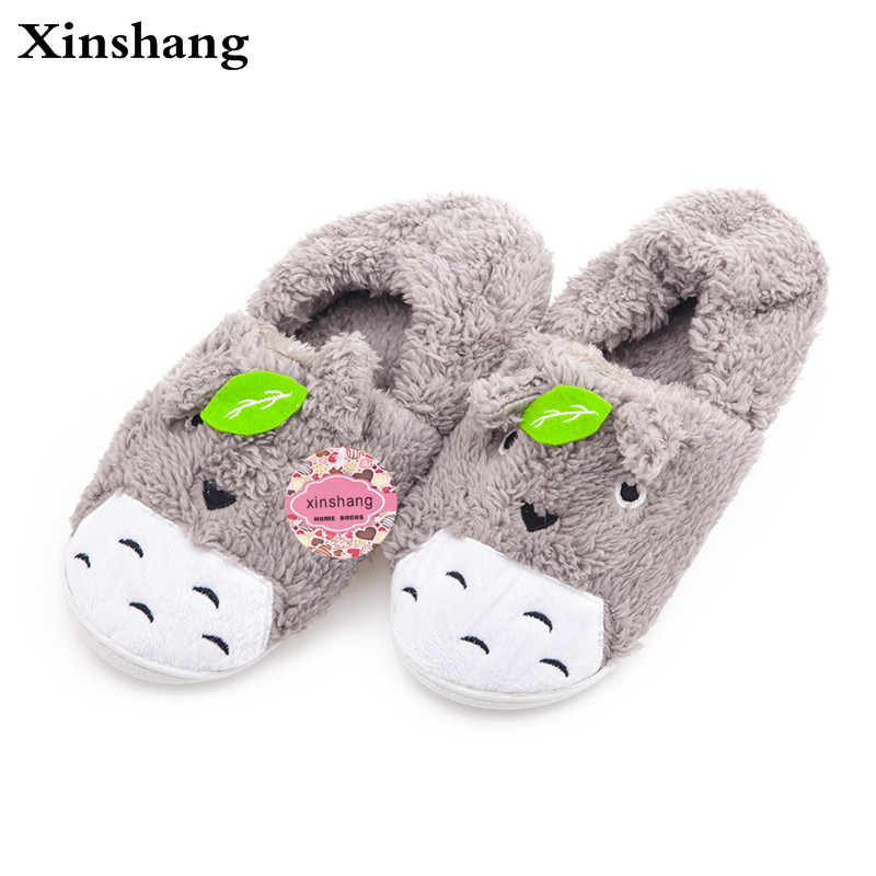 2017 Totoro Plush Slippers With Leaf Pantoufle Femme Women Shoes Woman House Animal Warm Big Animal Woman Funny Adult Slippers 2017 totoro plush slippers with leaf pantoufle femme women shoes woman house animal warm big animal woman funny adult slippers page 8