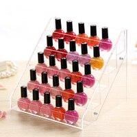 Acrylic Desktop Nail Polish Organizer Crystal Cosmetic Storage Rack Makeup Display Holder Case