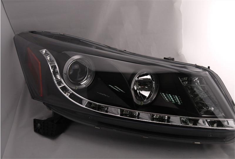 Бесплатная доставка для головной лампы автомобиля для Хонда Аккорд фары глаза ангела света головки СИД 2008 2013 Н7 Ксеноновые лампы подключи и играй