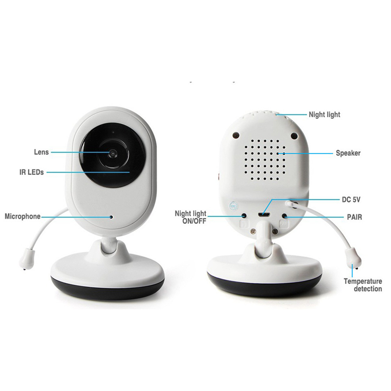 Hot Sale Baby Monitor Color LCD Wireless Video Baby Camera IR Night Vision Nanny Security Camera Intercom Temperature Monitor