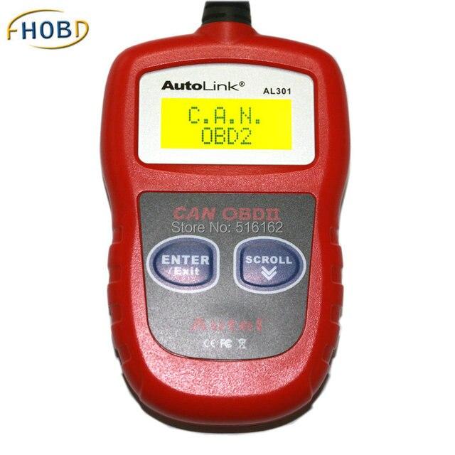 Autel AutoLink AL301 OBDII/CAN OBD2 Code Scanner with DTC Erase I/M VIN Rescan Function Update Online
