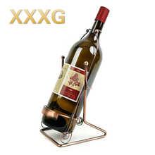 XXXG/1.5 L/5 L 3 L Europea vino vino estante estante de cinco litros de botellas de vino adornos artesanales ou shi, forjado de hierro rojo