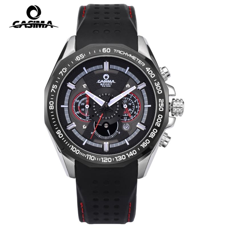 Casima luminous military sport watch men luxury brand mens chronograph quartz wrist watch dive for Casima watches