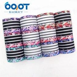 OOOT BAORJCT-rubans en gros-grain imprimés | 38mm 10yards, rubans avec transfert thermique de fleur, artisanat, accessoires pour bricolage