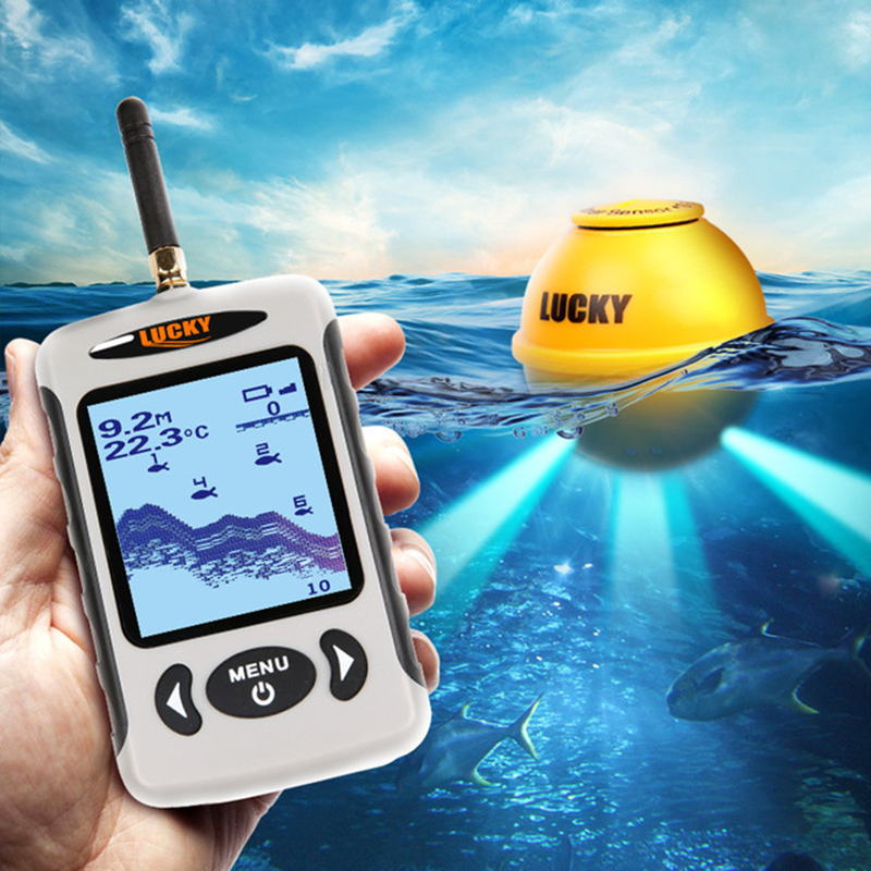 Wireless Sonar Portable Fish Finder Sensor Echo Sounder Alarm River Lake Sea Bed Live 135ft/45M portable fish finder bluetooth wireless echo sounder underwater bluetooth sea lake smart hd sonar sensor depth