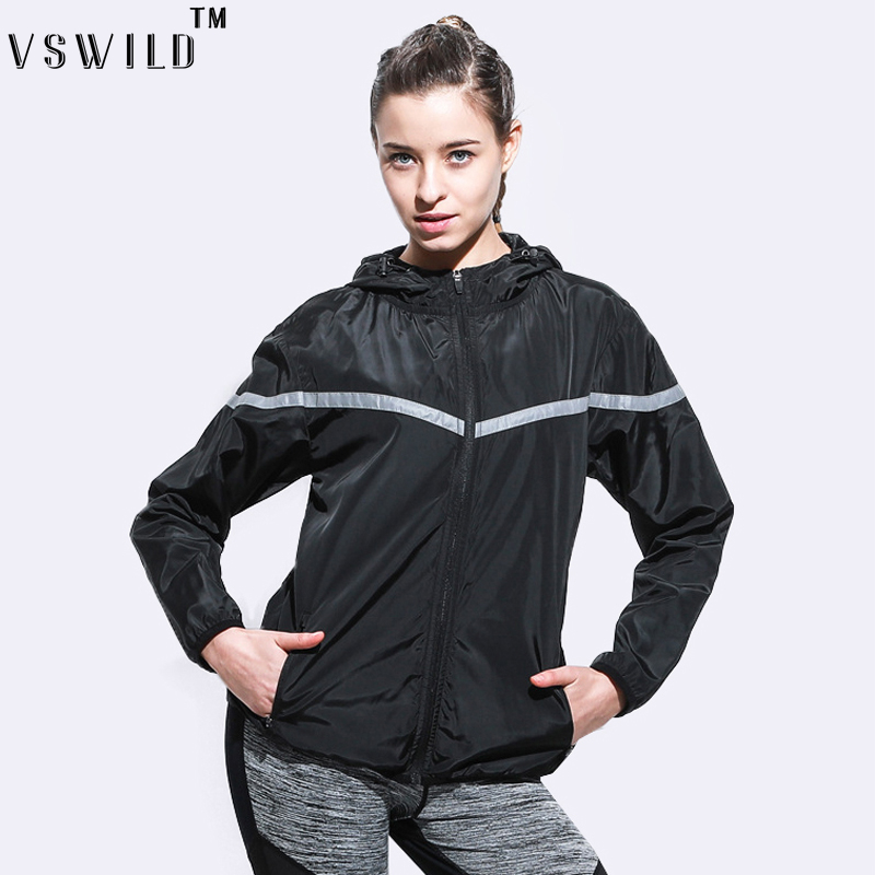 Women Yoga Clothing Female Sportswear Fitness Jogging Hoody Sexy Women Running Hoodies Windproof Coat Training Shirts ...