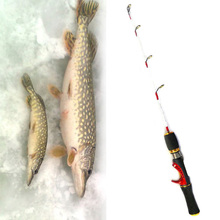 Free Shipping 55cm newest Ice Fishing Rod solid mini fishing pole for winter pike perch fishing free rod tube case