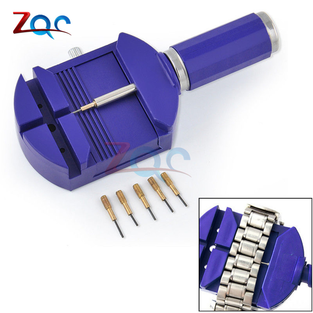 Watch Link For Band Slit Strap Bracelet Chain Pin Remover Adjuster Repair Tool Kit 28mm