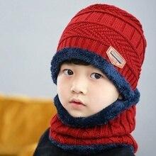 2018 padre niño invierno cálido sombrero de punto sombrero y la bufanda para  3-12 años de edad las niñas y los niños de los estu. b81470e62bb