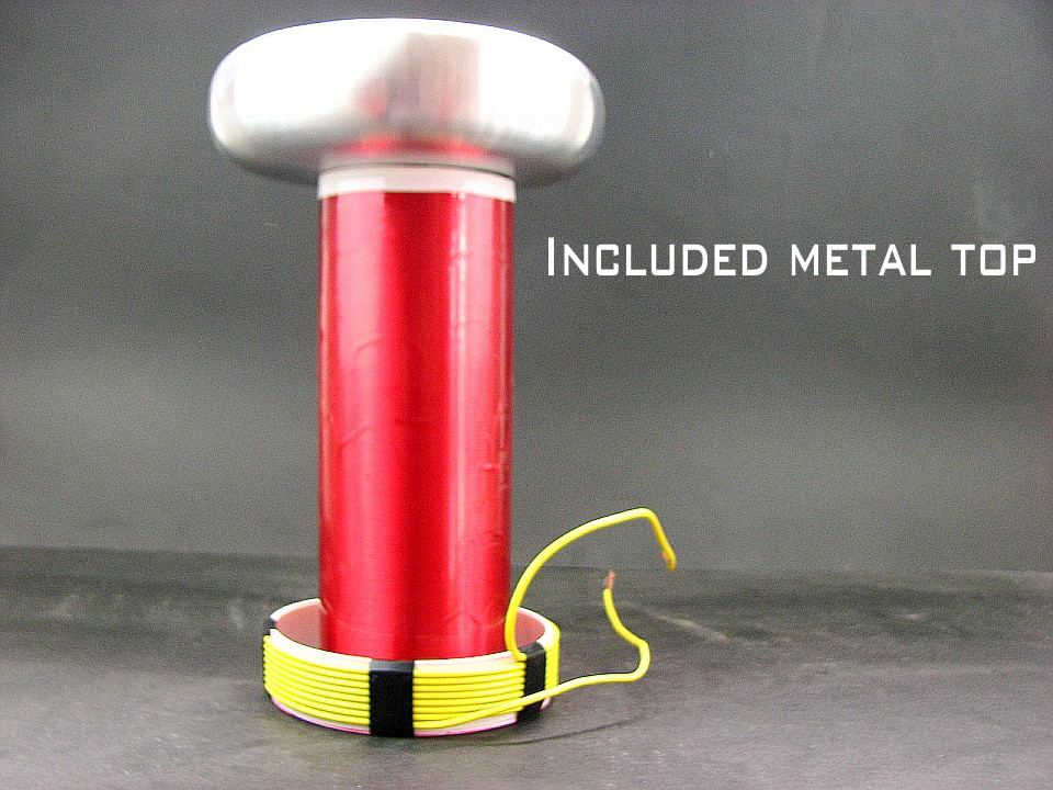 DIY Tesla coil project SSTC DRSSTC Parts Alloy top load Primary coil and Secondary coil