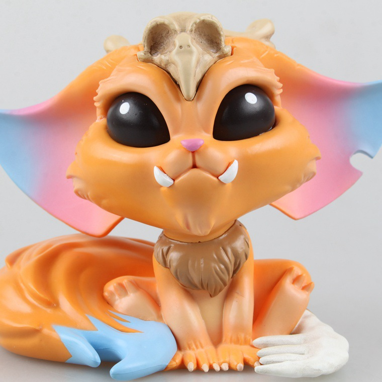 High Quality 11cm Cartoon Game Gnar The Missing Link Doll Action & Toy Figures PVC Model Kids Gift Car Decoration Doll