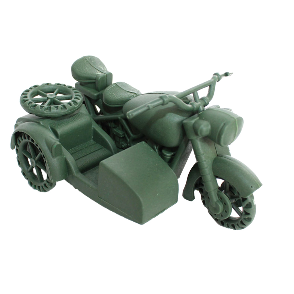 Vehicle-Model Simulation-Motorbike Army-Base Model-Toy Games Playset-Accessories Kids