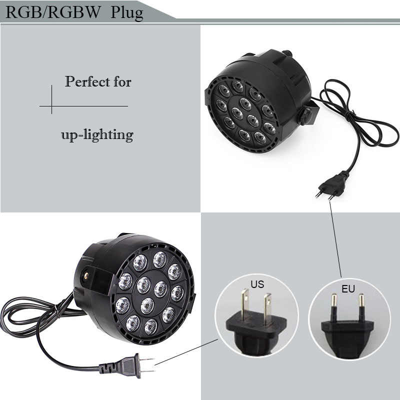 RGB RGBW светодиодный Par сцены с режимом master/slave с пульта dmx звуковая активация для DJ вечерние Disco 220 V 120 V Мощность plug Бесплатная доставка
