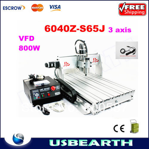 3 axis Numerical Control router cnc 6040Z-S65J engraving machine cnc 6040 drilling milling machine eur free tax cnc 6040z frame of engraving and milling machine for diy cnc router