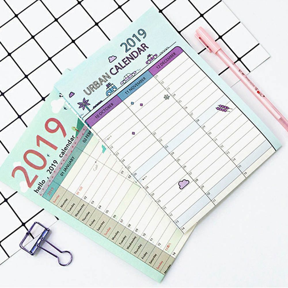 picture relating to Large Daily Planner called US $0.75 8% OFF1Computer system 2019 365 times Paper Wall Calendar Business office Higher education Day-to-day Planner Notes Weighty Exploration Method Listing Clean 12 months Method Routine-inside of Calendar versus