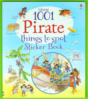 1001 Pirate Things to Spot Sticker Book  children sticker books English children's picture book ultimate sticker book dangerous dinosaurs