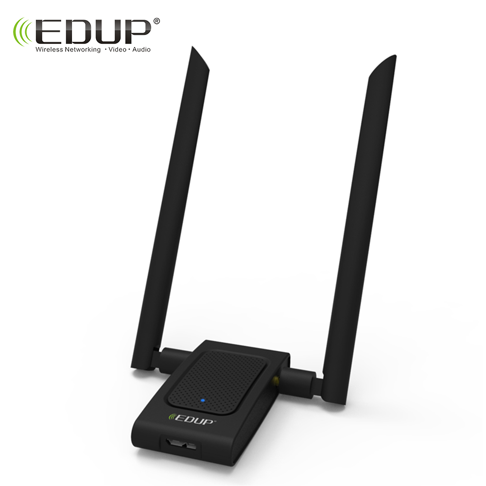 EDUP usb Wireless wifi adapter 5ghz 1200mbps high gain 2*6 dbi antennas with USB disk driver 802.11ac long range wifi receiver адаптер usb edup 1532 300m usb usb wifi