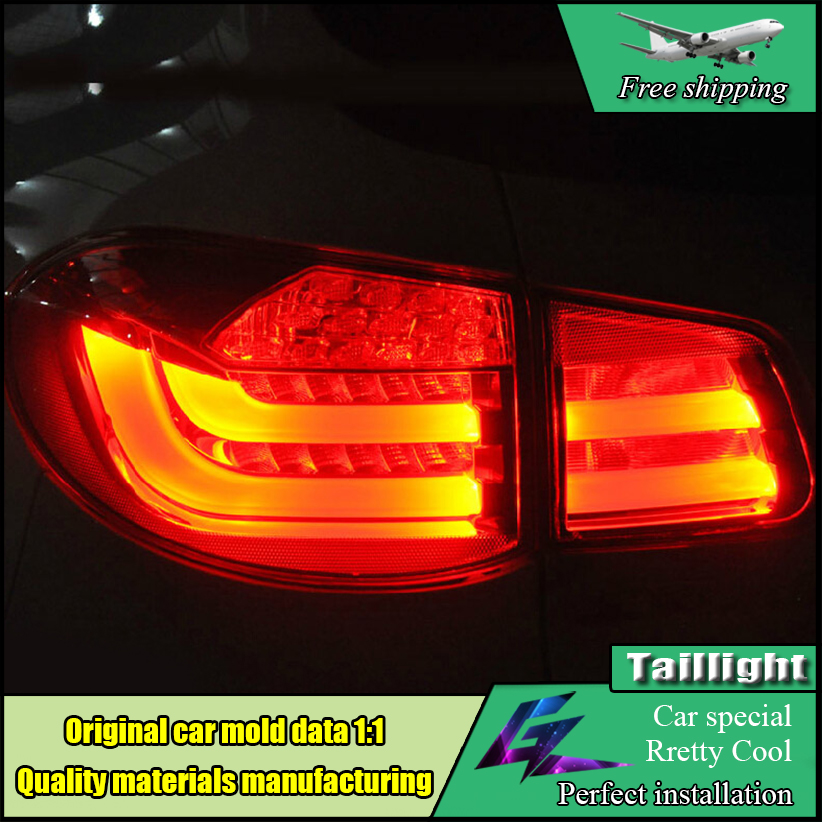 Car Styling Taillight Accessories For Volkswagen VW Tiguan Tail Lights 2010-2014 LED Tail Light Rear Lamp DRL+Brake+Park+Signal for vw volkswagen polo mk5 6r hatchback 2010 2015 car rear lights covers led drl turn signals brake reverse tail decoration