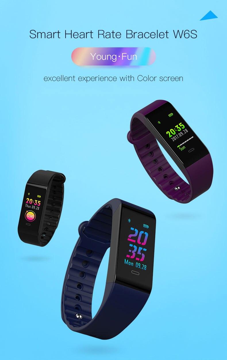 Smart bracelet blood pressure heartrate W6S (1)