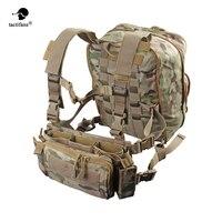 Flatpack D3 プラスバックパック水分補給胸リグベスト鎧ライフル AK M4 ピストルマガジンポーチハイキングバッグユニセックス