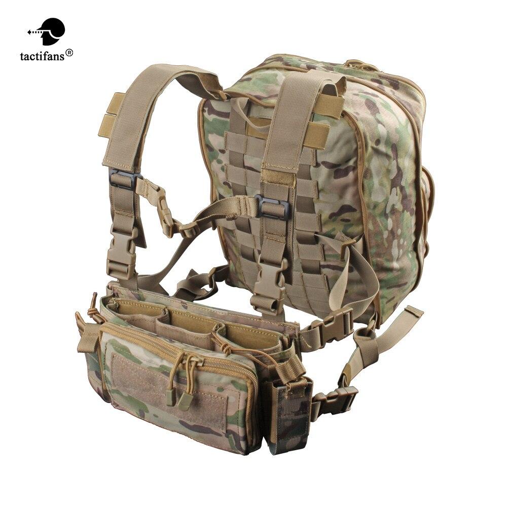 Paquete plano D3 Plus mochila hidratación pecho Rig chaleco armadura Rifle AK M4 pistola revista bolsa senderismo caza ejército bolsa Unisex