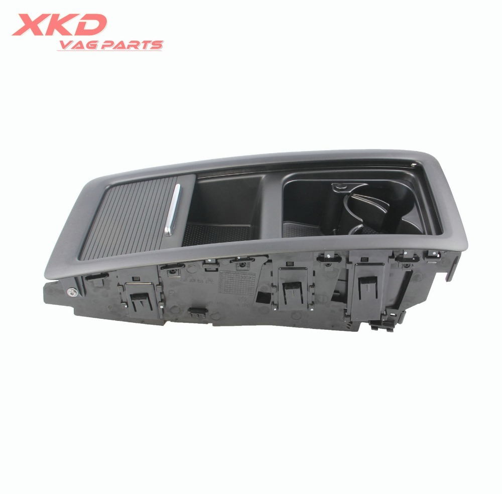 Black 4 seats Rear Seat Bench Central Storage Box Tray Fit For VW Passat CC 09